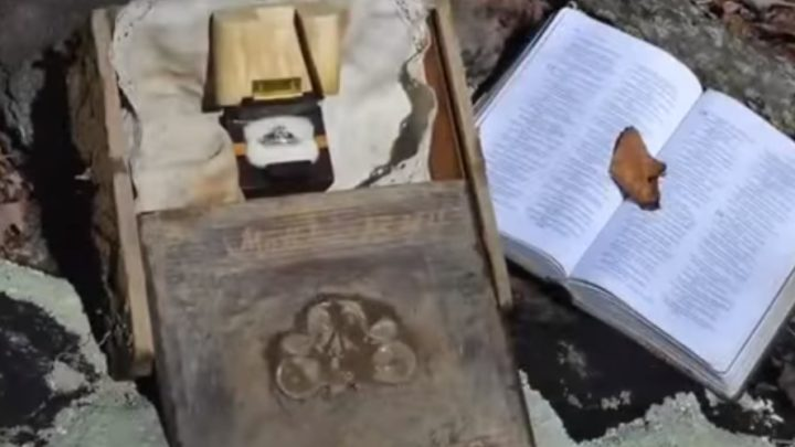 Couple Find Ancient Treasure, Then Woman Finds Name Scrawled Inside And Drops To Her Knees