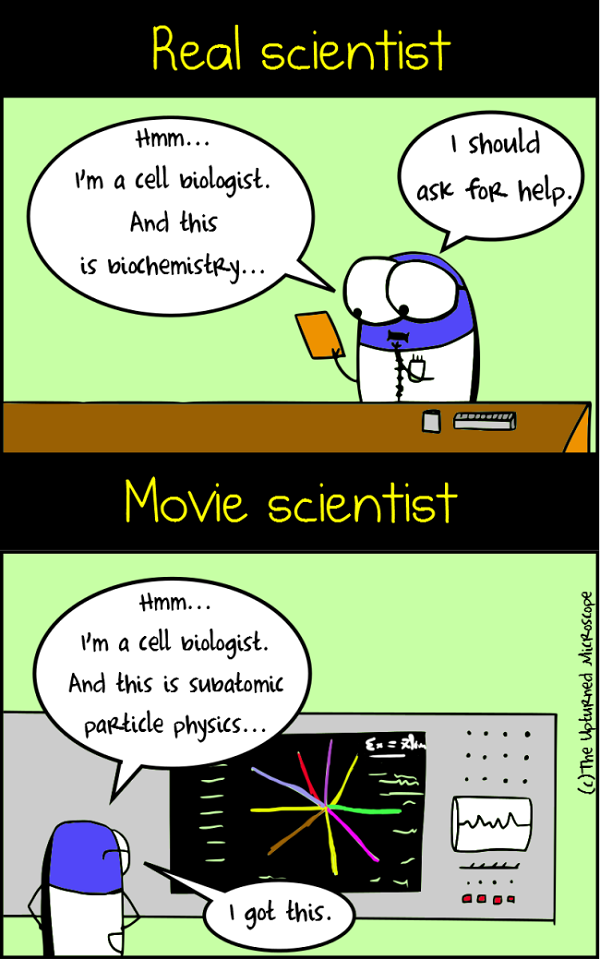real vs movie scientists 1
