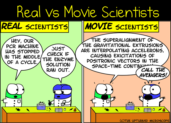 Movie Scientists vs. Real Life Boffs